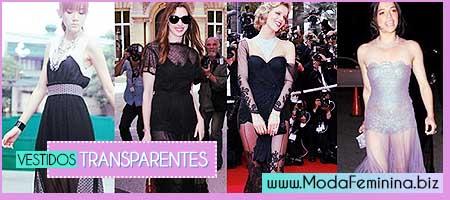 modelos de vestidos transparentes