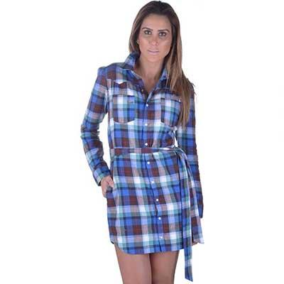modelos de vestidos xadrez