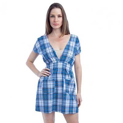 vestidos xadrez da moda