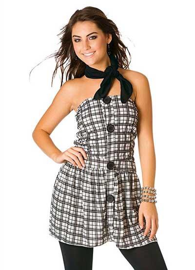 tendências de vestidos xadrez
