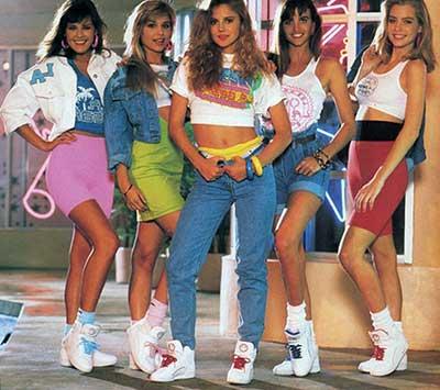 moda da década de 80