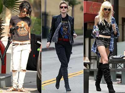 sugestões de camisetas de rock da moda