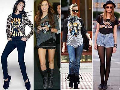 moda do mundo do rock
