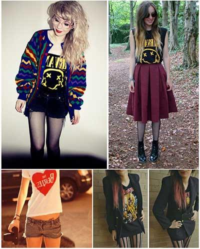 roupas para rockeiras