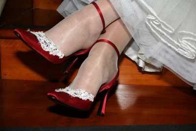 calçados vermelhos