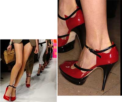 sugestões de sapatos vermelhos