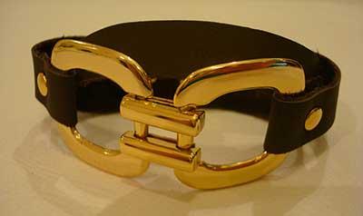 braceletes de couro