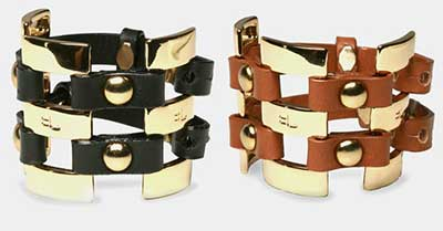 dicas de braceletes de couro