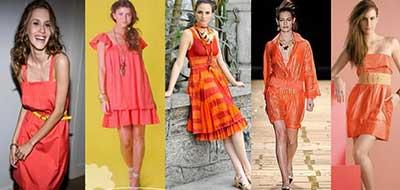 fotos de looks com laranja