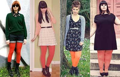 fotos de meia calça colorida