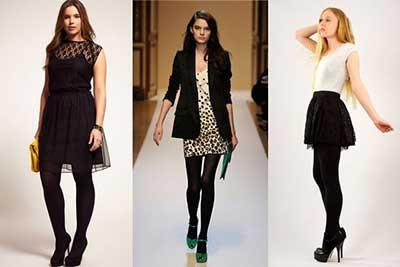 moda com meia calça