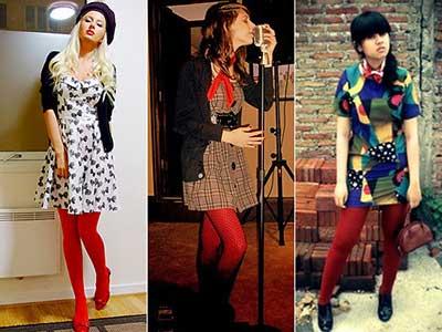 modelos de meia calça colorida