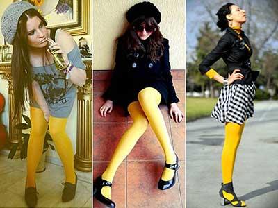 meia calça colorida da moda