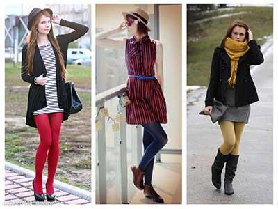 tendências de meia calça colorida