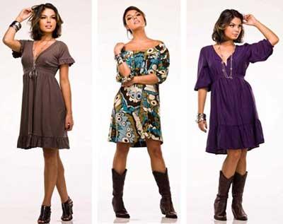 modelos de vestidos soltinhos