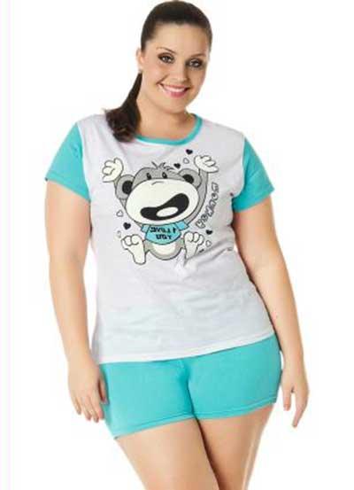 moda de pijamas plus size