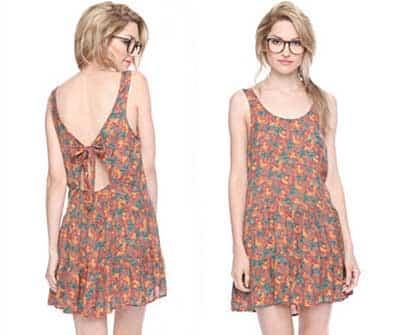 vestidos simples estampados