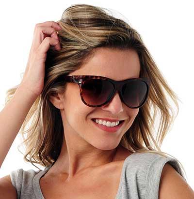 fotos de modelos de óculos escuro
