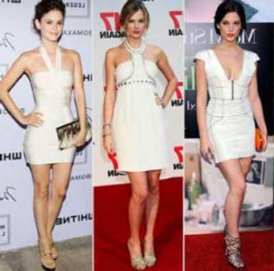 imagens de vestidos curtos brancos