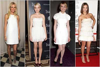 tendências de vestidos curtos brancos