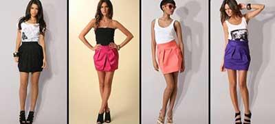 meninas com saias em imagens