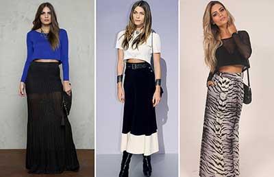 sugestões da moda cropped