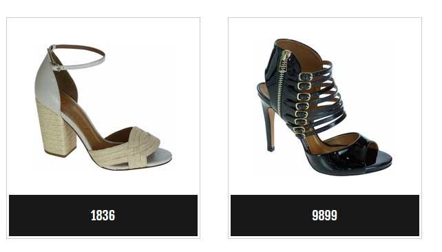 coleção de calçados