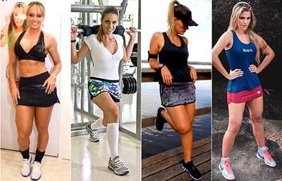 mulheres de shorts em fotos