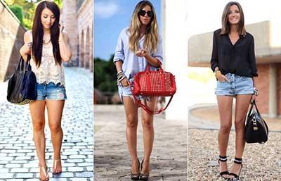 mulheres de shorts em imagens
