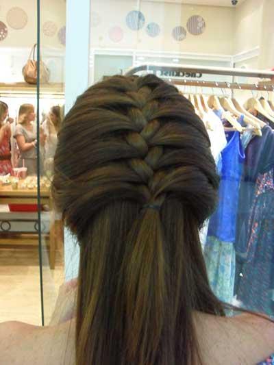 penteado trança de raiz