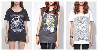 modelos de camisetas femininas de banda