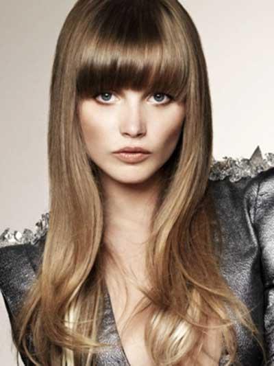 imagens de penteados com franja