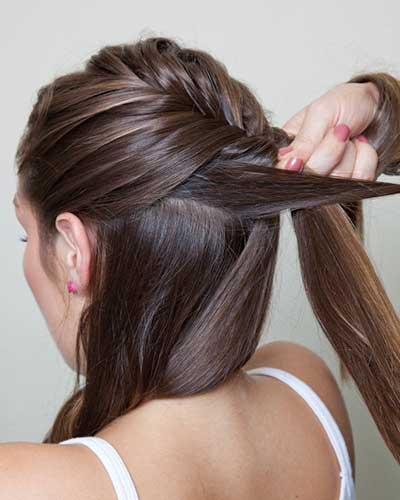 penteado espinha de peixe