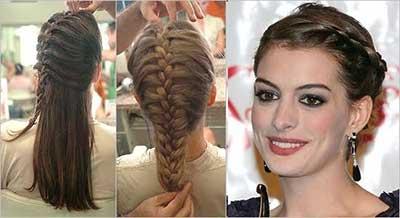 sugestão de penteado com trança