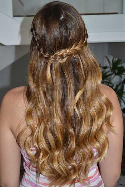 penteados românticos
