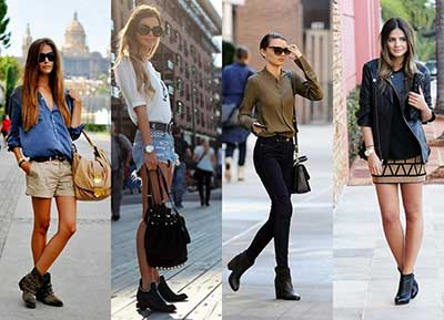 fotos de looks com botas