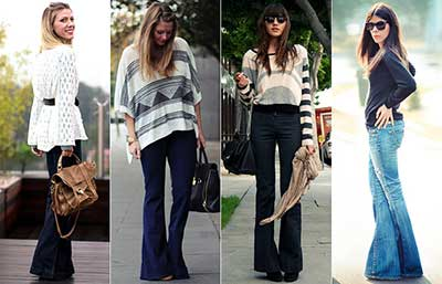 modelos de calças flare