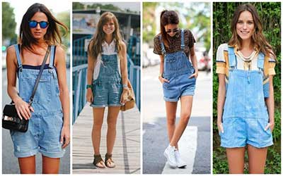 looks com jardineiras jeans