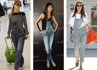 modelos de jardineiras jeans
