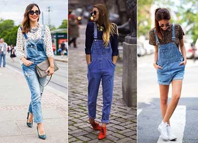 como usar jardineiras jeans