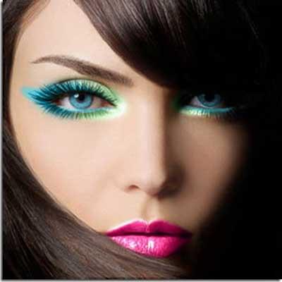 maquiagens coloridas