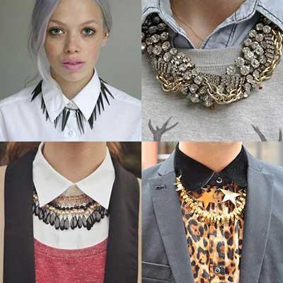 imagens de looks com maxi colar