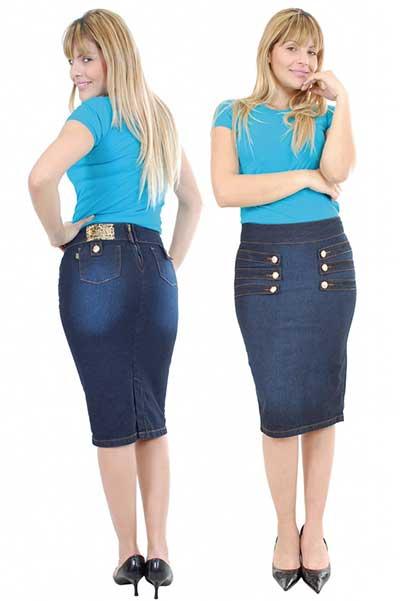 imagens de saias jeans