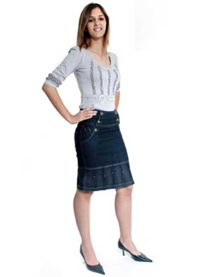 tendências de saias jeans