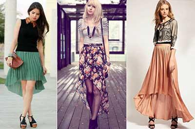 seleção de saias
