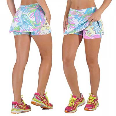 short saia fitness estampado