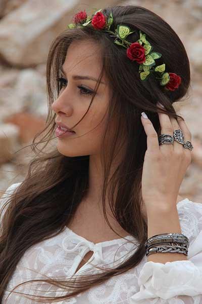modelos de tiaras com flores
