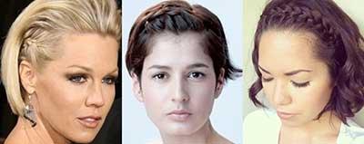 Fotos de tranças para cabelos curtos