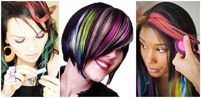 Modelos de Mechas Coloridas