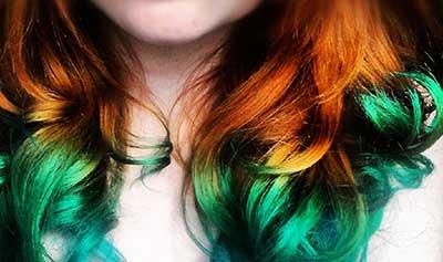 mechas coloridas